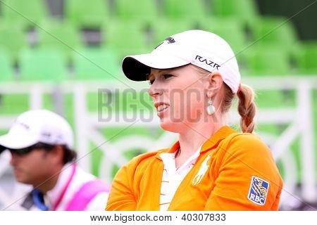 Morgan Pressel (USA) at The Evian Masters golf tournament 2011