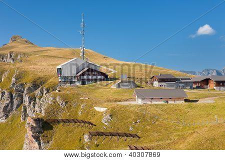 Top Station Of The Luftseilbahn Wengen-m�nnlichen