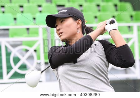 Se Ri Pak (KOR) at The Evian Masters golf tournament 2011