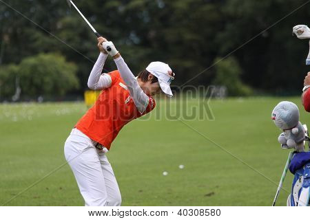 Song Hee Kim (KOR) no torneio de golfe The Evian Masters 2011