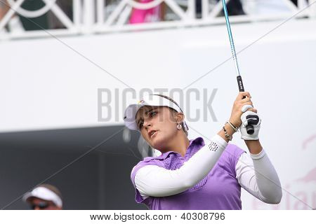 Alexis Thompson  (USA) at The Evian Masters golf tournament 2011