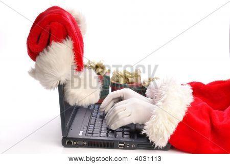 Santa Using Laptop