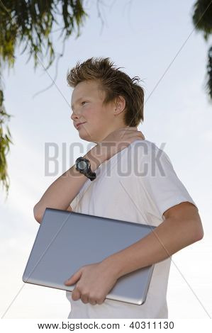 Schoolkid With Notebook