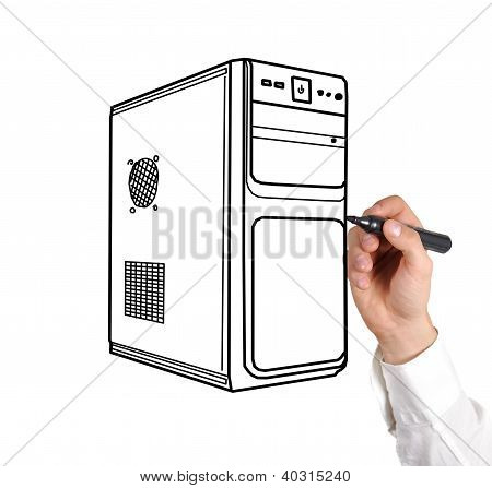Drawing Computer System Unit