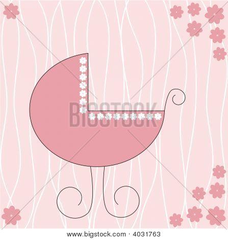 Baby Stroller Girl.Eps