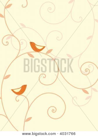 Birds and plants design