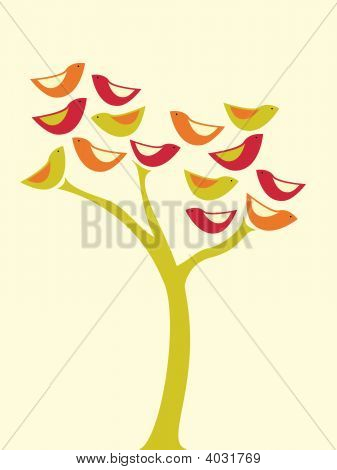 Bird Tree.Eps