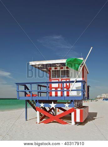 Miami Beach Florida, lifeguard house