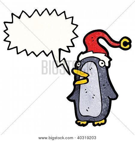 cartoon squawking penguin