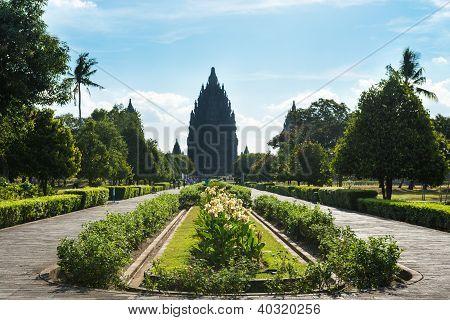 Entrance In Hindu Temple Prambanan. Yogyakarta, Java, Indonesia.