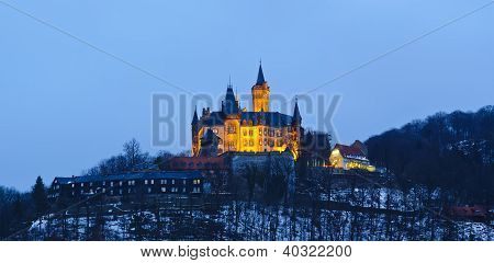 Wernigerode Castle At Night