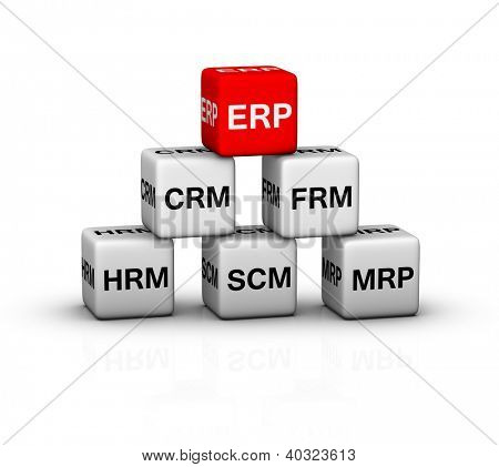 ERP (Enterprise Resource Planning) System illustration