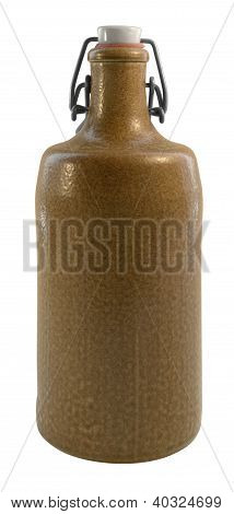 Stoneware Bottle With Closure