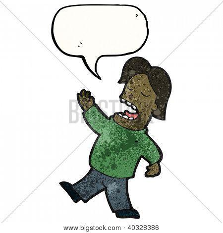 cartoon arrogant man talking