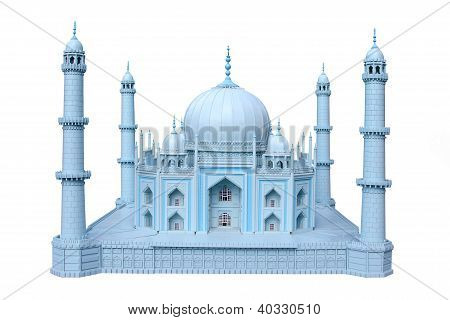 The Wooden Breadboard Model Taj Mahal