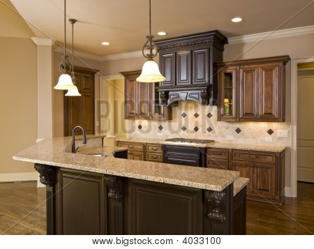 Luxury Diamond Tile Kitchen Front