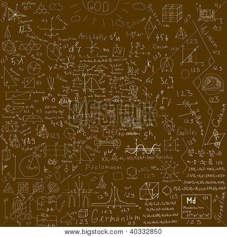 Schule Doodles Hintergrund
