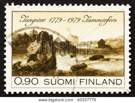 Postage stamp Finland 1979 View of Tampere