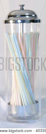 Vintage Straw Holder