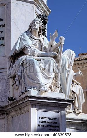 Fragment of Column of the Immaculate conception. Roma (Rome), Italy