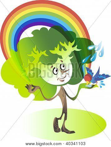 Tree And Rainbow