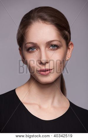 Beautiful Charming Woman With Lipstick