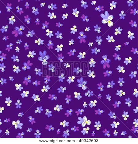 Violet pansy seamless background