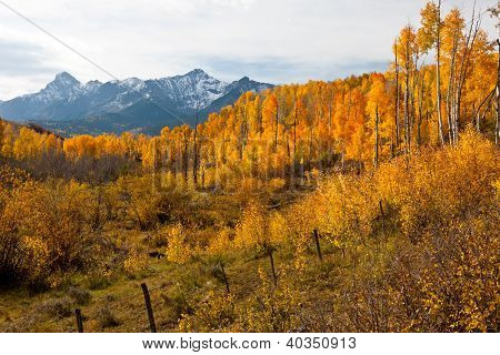 Rugged Colorado Mountains in Fall