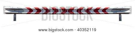steel road guardrail isolated on white background