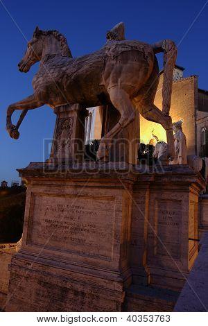 Dioscuri At Night