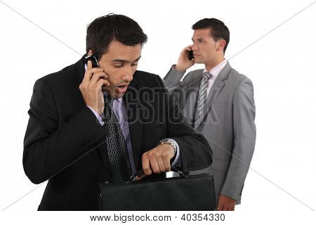 businessman being late