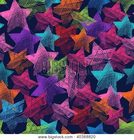 seamless scribble star background