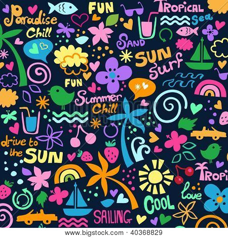 colorful summer graphics