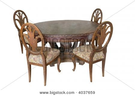 Table With Chairs Of 18 Century