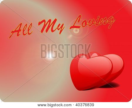 Valentine Love Card - All My Loving III