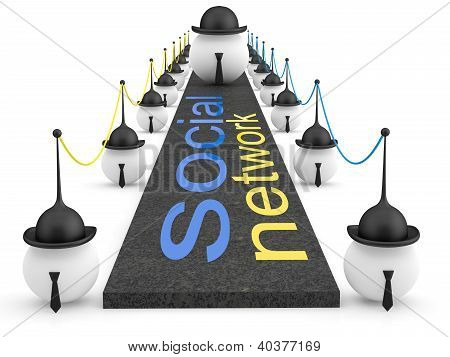 Social network concept. 3D illustration