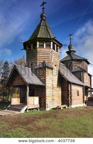 Wood Church Of Xviii Century