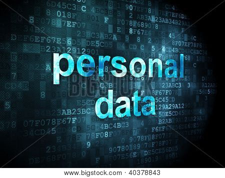 Information concept: personal data on digital background