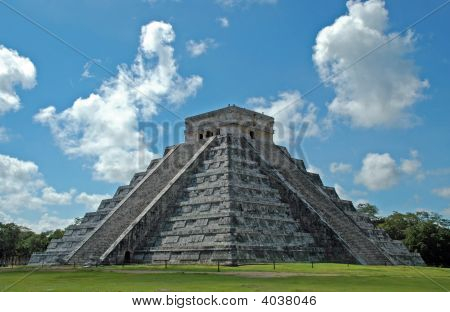 Ancient Maya pyramid