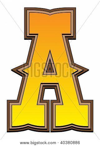Western Alphabet Letter - A