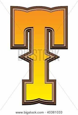 Western Alphabet Letter - T