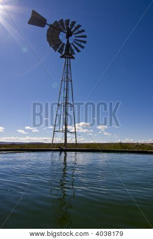 Windmill With Dam