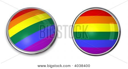 Banner Button Rainbow Flag