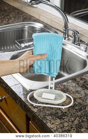 Hanging Microfiber Dish Towel For Drying