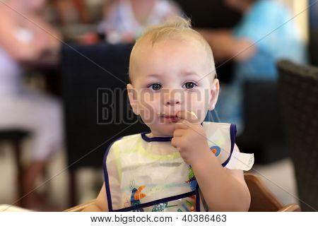 Baby Biting Banana