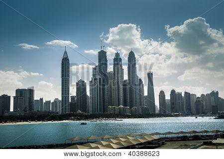High Luxury Blue Building Skyscraper
