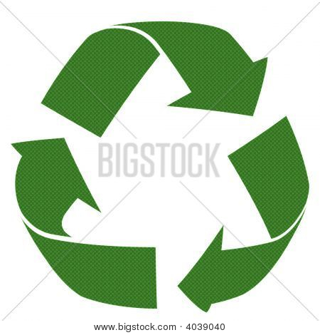 3D Recycle Patterned Symbol