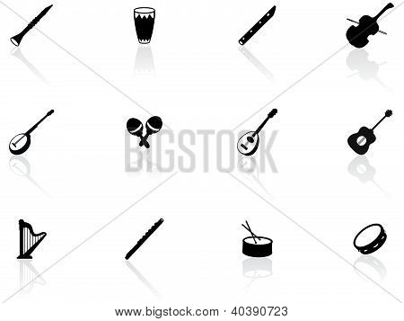 Musical instrument icons