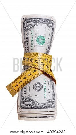 Dollars With Measure Tape