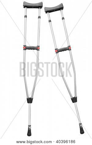 crutches under the light background